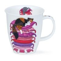 Dunoon Nevis Sleepy Cats Pink Mug