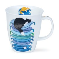 Nevis Sleepy Cats Blue Mug