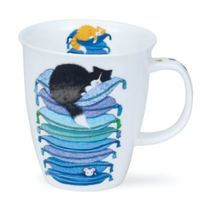 Dunoon Nevis Sleepy Cats Blue Mug