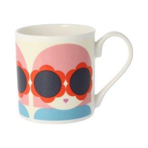 Orla Kiely Lola Red/Blue Mug