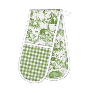 Michel Design Works Bunny Toile Double Oven Glove
