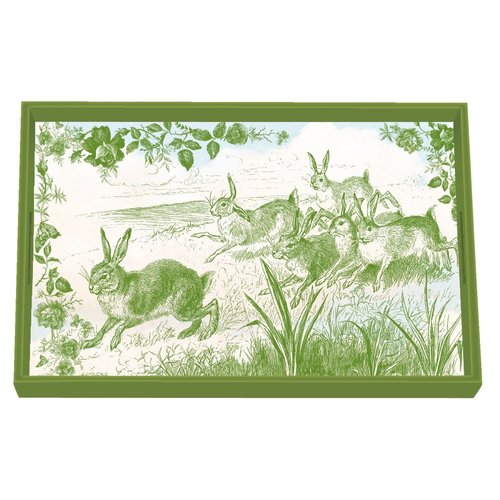 Michel Design Works Bunny Toile Vanity Tray
