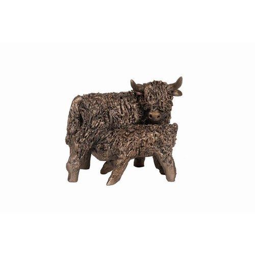 Frith Sculpture Frith Cow and Calf Feeding Small VB080