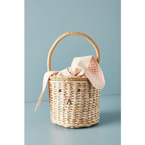 Meri Meri Meri Meri Woven Straw Bunny Basket