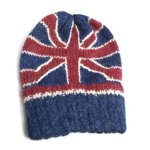 Peruvian Trading Co. Peruvian Trading Co. Union Jack Flag Hat w/ Ribbed Headband