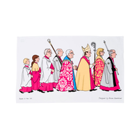 Cathedral Procession Tea Towel