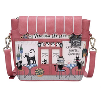 Cat Cafe Crossbody Bag