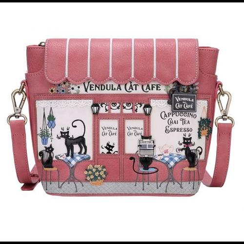 Vendula Cat Cafe Crossbody Bag