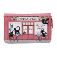 Cat Cafe Medium Ziparound Wallet