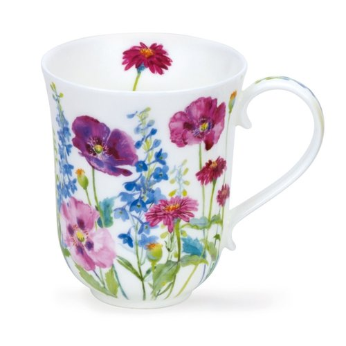 Dunoon Braemar Cottage Flowers Purple Mug