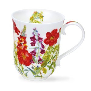 Dunoon Braemar Cottage Flowers Red Mug