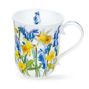 Dunoon Braemar Cottage Flowers Yellow Mug