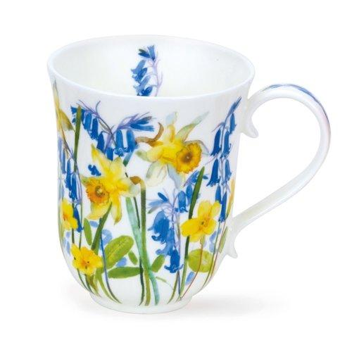 Dunoon Braemar Cottage Flowers Yellow Mug
