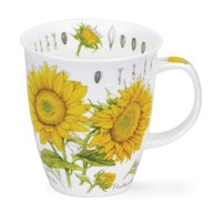 Nevis Floral Sketch Sunflower Mug
