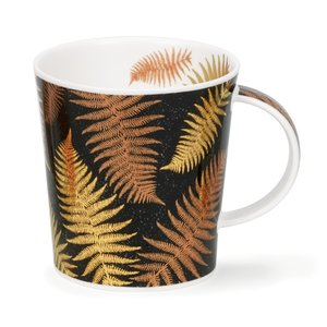 Dunoon Lomond Ferns Black Mug