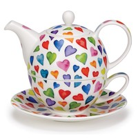 Tea for One Warm Hearts Set