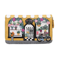 Flower Shop Medium Ziparound Wallet