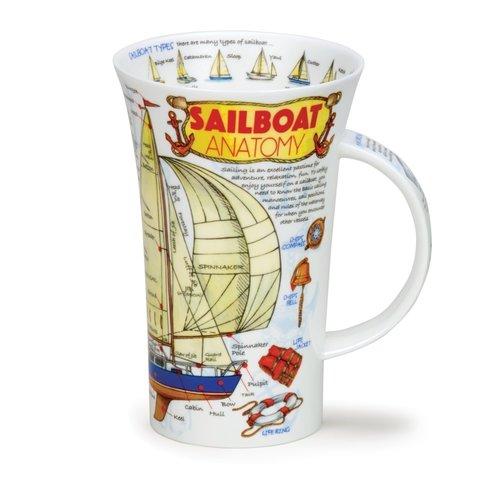 Dunoon Glencoe Sailboat Anatomy Mug