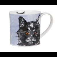 Orkney Pawtraits Black & White Cat Mug