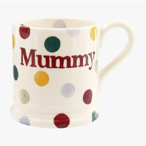 Emma Bridgewater Polka Dot Mummy 1/2 Pint Mug Boxed
