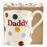 Emma Bridgewater Polka Dot Daddy 1/2 Pint Mug Boxed