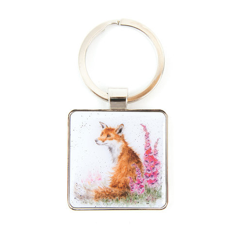 Wrendale Wrendale Fox 'Foxgloves' Keyring