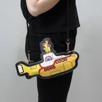 Yellow Submarine Shaped Mini Bag