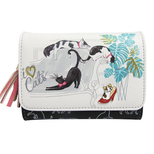 Disaster Designs Keepsake I Love Cats Purse
