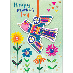 Bird and Flowers Mother's Day Card
