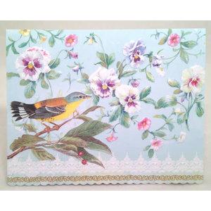Pansies & Warbler Portfolio Cards