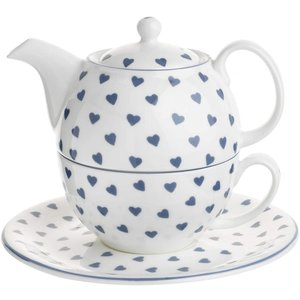 Roy Kirkham Blue Hearts Tea for One