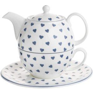 Roy Kirkham Blue Hearts Tea for One