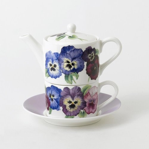 Roy Kirkham Pansy Tea for One