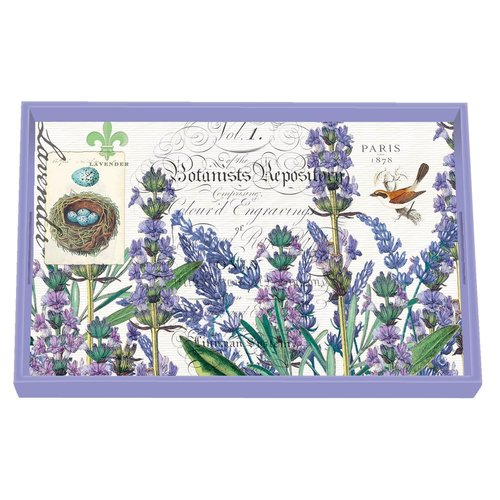 Michel Design Works Lavender Rosemary Decoupage Wooden Vanity Tray