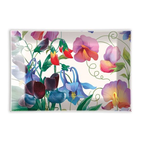 Michel Design Works Sweet Pea Rectangular Glass Soap Dish