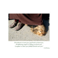 Dog Under Skirt Thinking of You Card