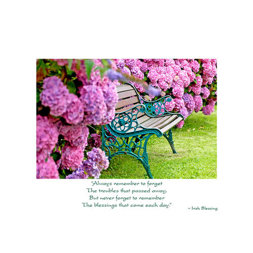 Hydrangea Bench Thinking of You Card