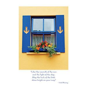 Irish Window Box Get Well Card