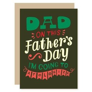 Apology Father's Day Card