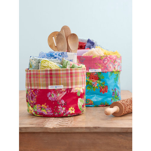 April Cornell Arts and Crafts Basket Set of 2 Bright