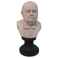 Winston Churchill Bust with Cigar