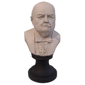 Winston Churchill Bust with Cigar