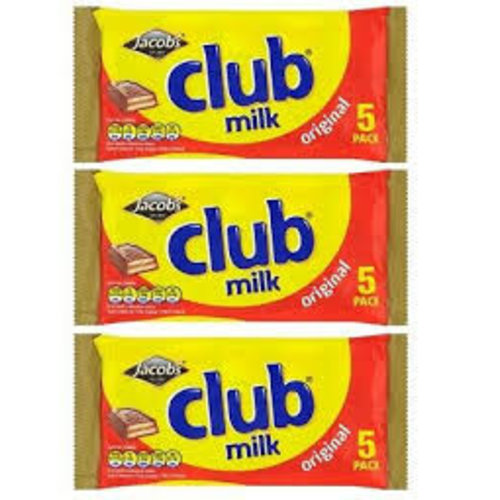 Jacobs club milk chocolate biscuits
