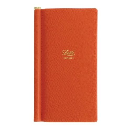 Letts of London Legacy Pocket Address Book Orange