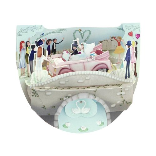 Santoro London Popnrock Wedding Car Card