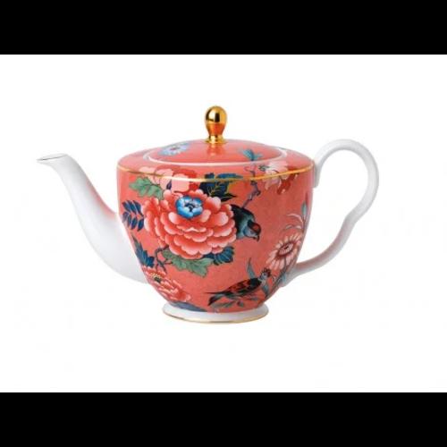 Wedgwood Paeonia Blush Teapot Coral
