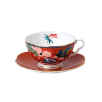 Paeonia Blush Teacup & Saucer Red