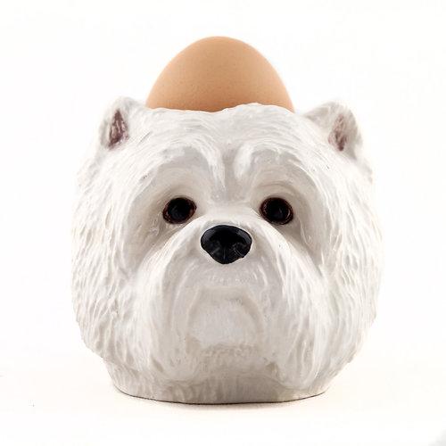 Quail Ceramics Quail Westie Face Egg Cup