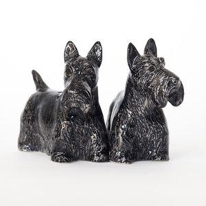 Quail Ceramics Quail Scottie Figures Set of 2