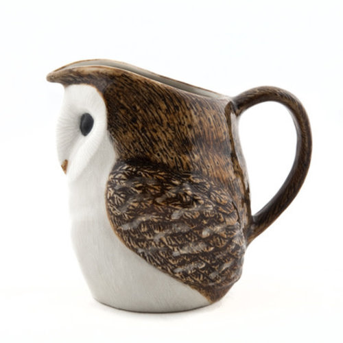 "Quail Ceramics Quail Barn Owl Jug 4.5"""